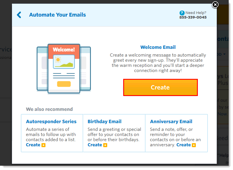constant contact automate emails