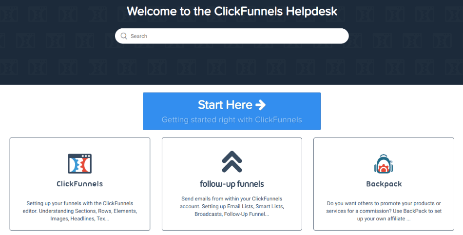 click funnels support