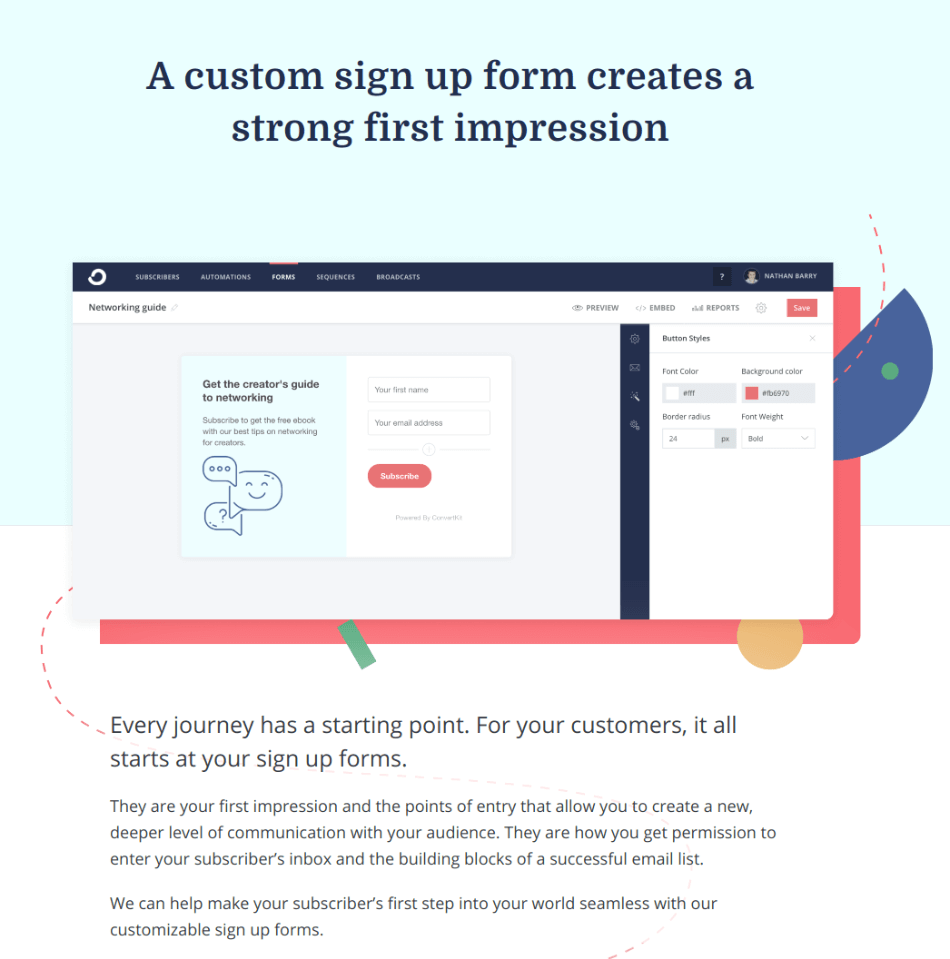 convertkit signup form