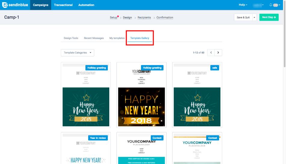sendinblue template library