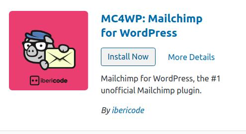 mailchimp in wordpress install plugin