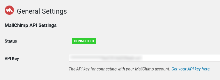 mailchimp plugin for wordpress enter api key